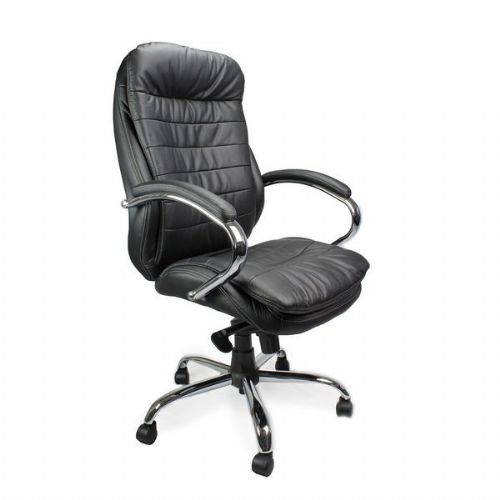 Santiago Luxury Leather Heavy Duty Office Chair 24 Stone